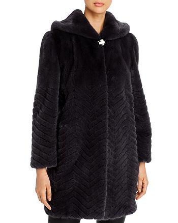 Maximilian Furs - Chevron Mink Fur Coat - 100% Exclusive