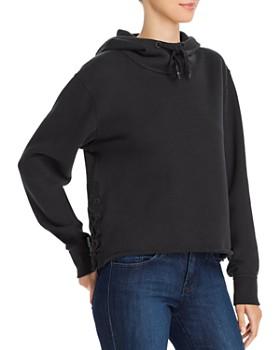 rag & bone - Amelia Lace-Up Hooded Sweatshirt