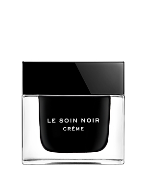 What It Is: Glistening with iridescent reflections, this incredibly deep black texture melts transparently into the skin after application, revealing its radiance and silky glow. What It Does: Le Soin Noir is filled with age-defying benefits that leave the skin nourished and full of life. The skin becomes visibly firm and smooth, radiating with a new youthful glow. How To Use It: Take a pearl-sized amount of black cream and warm it between your fingertips. Apply it on the entire face and neck in