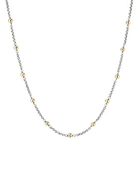 """David Yurman - Sterling Silver & 18K Yellow Gold Cable Collectibles Bead & Chain Necklace, 36"""""""