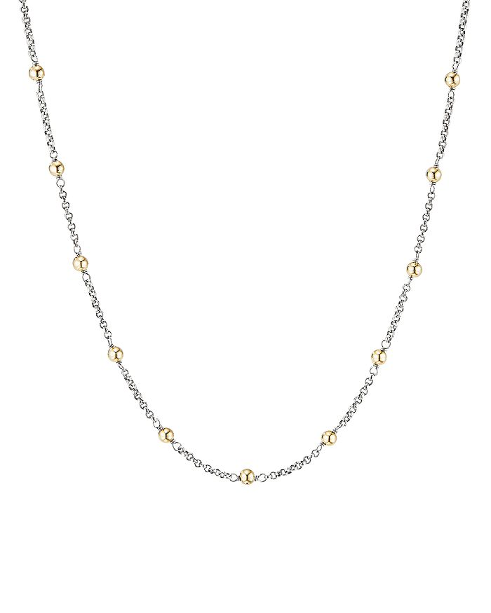 David Yurman - Sterling Silver & 18K Yellow Gold Cable Collectibles Bead & Chain Necklace, 36""
