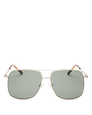 Men's Equilateral Brow Bar Aviator Sunglasses