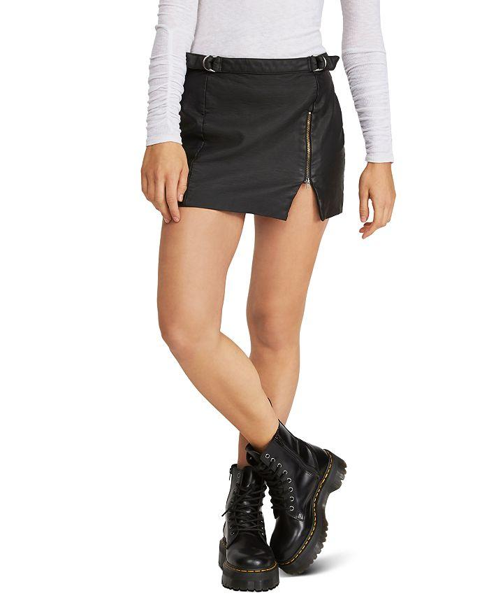 Free People - Midnight Magic Faux Leather Mini Skirt