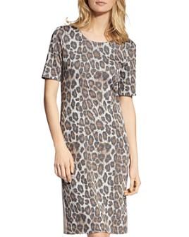 BASLER - Short-Sleeve Animal-Print Dress