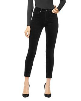 Good American - Good Legs Crop Velvet Jeans in Black038