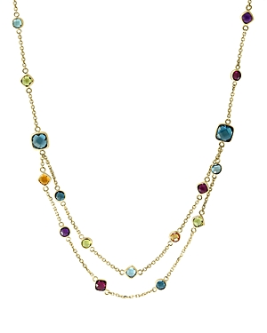 Bloomingdale's Rainbow Gemstone Station Necklace in 14K Yellow Gold, 18 - 100% Exclusive