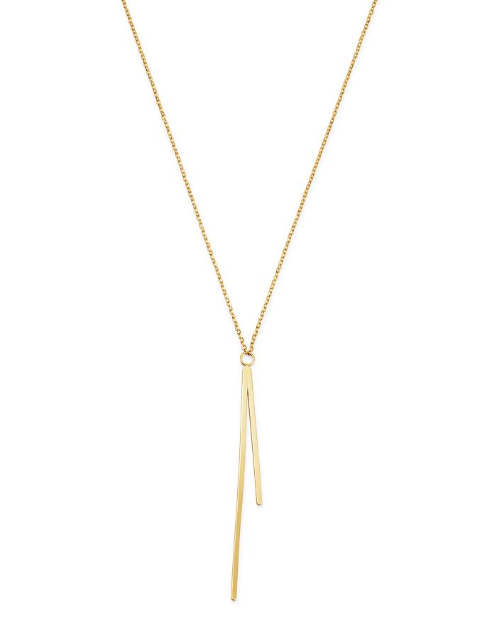 "Moon & Meadow - 14K Yellow Gold Double Bar Pendant Necklace, 19"" - 100% Exclusive"