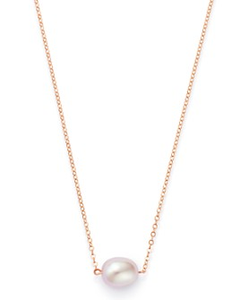 "Bloomingdale's - Pink Cultured Freshwater Pearl Pendant Necklace in 14K Rose Gold, 16""-18"" - 100% Exclusive"