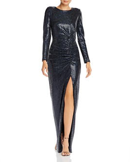 Avery G - Hologram Long-Sleeved Gown