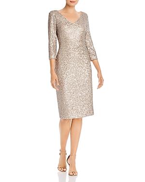 Donna Karan New York V-Neck Sequin Dress