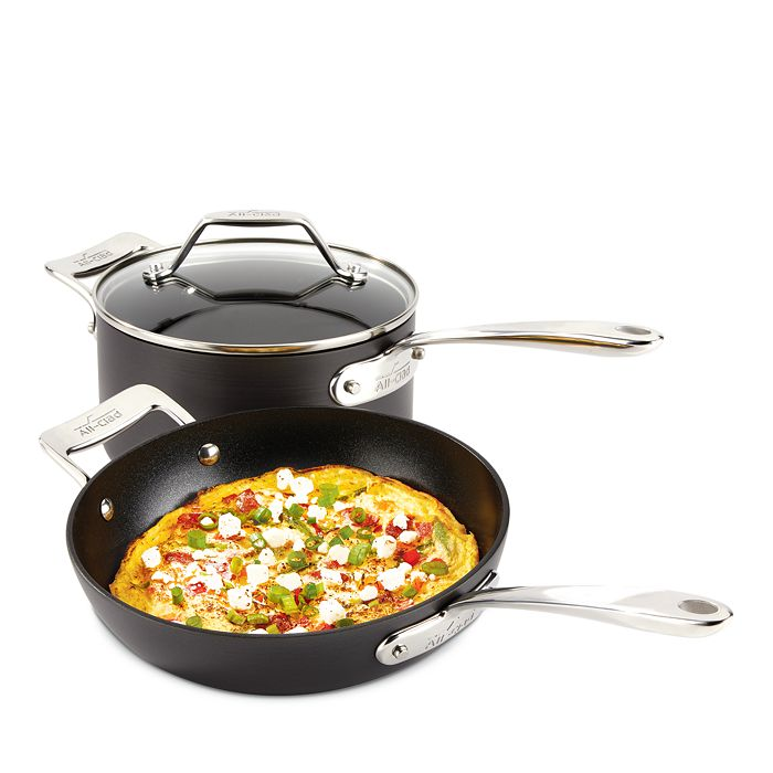 All-Clad - Essentials Nonstick Small Fry & Sauce Pan Set