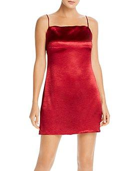 The East Order - Cody Textured Satin Mini Dress