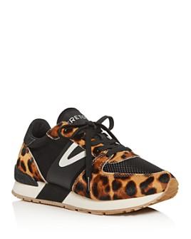 Tretorn - Women's Leopard-Print Calf Hair Low-Top Sneakers