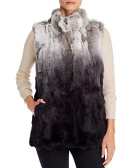 Adrienne Landau - Ombré Rabbit Fur Vest