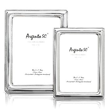 "Argento SC - Argento ""Double Bead"" Sterling Silver Frame, 4"" x 6"""