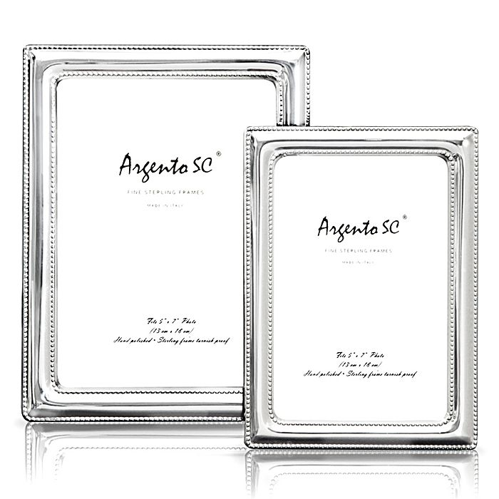 """Argento SC - Argento """"Double Bead"""" Sterling Silver Frames"""