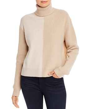 Theory - Color-Blocked Cashmere Turtleneck