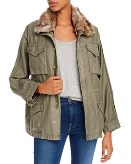 FRAME - Faux-Fur Lined Utility Jacket