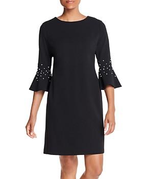 KARL LAGERFELD Paris - Embellished Bell-Sleeve Dress