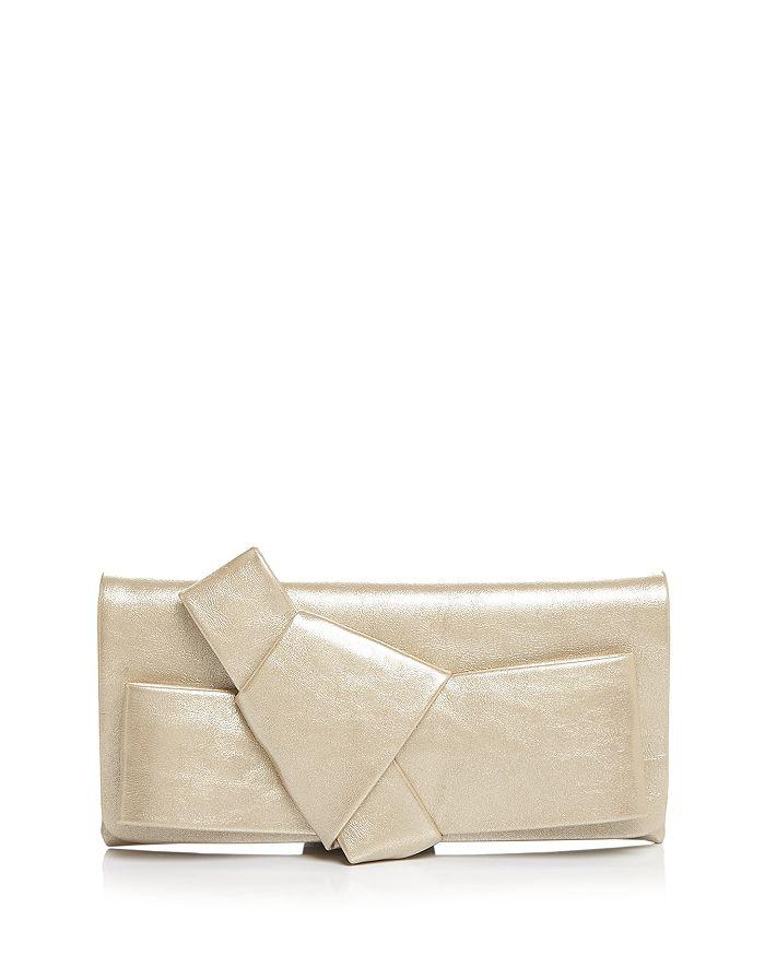 AQUA - Metallic Bow Clutch Shoulder Bag - 100% Exclusive