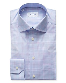 Eton - Large Scale Plaid Regular Fit Dress Shirt
