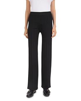 The Kooples - Ribbed Zip-Pocket Fleece Sweatpants