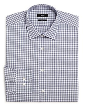 BOSS - Marley Broken-Check Regular Fit Dress Shirt