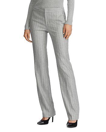 Ralph Lauren - Pinstriped Straight-Leg Pants