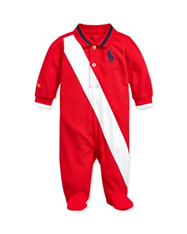 Ralph Lauren - Boys' Contrast-Stripe Polo Footie - Baby