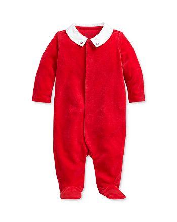 Ralph Lauren - Boys' Embroidered Velour Footie - Baby