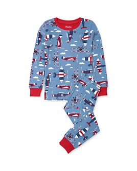 Hatley - Boys' Airplane Tee & Airplane Pants Pajama Set - Little Kid, Big Kid