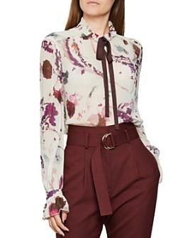 REISS - Rosa Romantic Floral Print Blouse