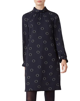 HOBBS LONDON - Clarice Dot Print Shift Dress