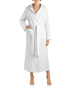 Hanro ROBE SELECTION PLUSH HOODED LONG ROBE
