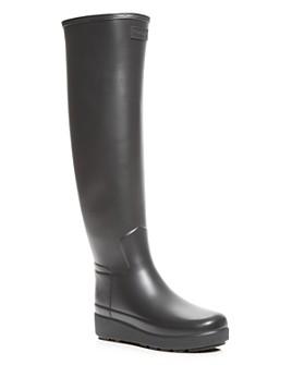 Hunter - Women's Refined Tall Creeper Rain Boots