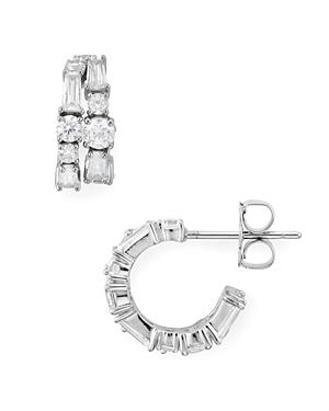 Nadri Astor Double Hoop Earrings-Jewelry & Accessories