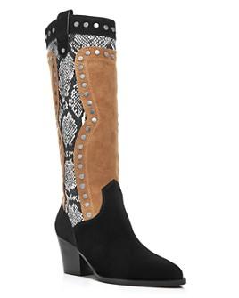 COACH - Women's Payton Mixed-Media Block-Heel Boots