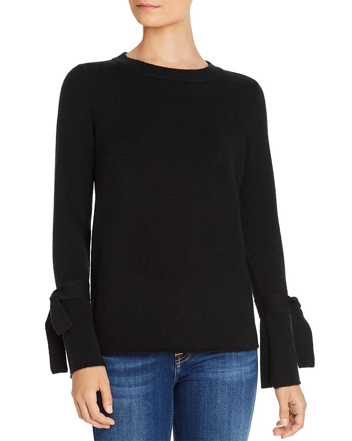C by Bloomingdale's - Tie-Sleeve Cashmere Sweater - 100% Exclusive