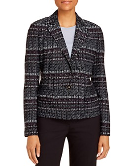 St. John - Single-Button Wool-Blend Tweed Jacket