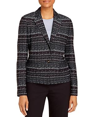 St. John Single-Button Wool-Blend Tweed Jacket