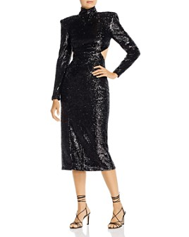 Cinq à Sept - Daniela Cutout Sequin Midi Dress