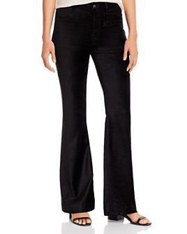 7 For All Mankind - Wide-Leg Velvet Jeans in Black