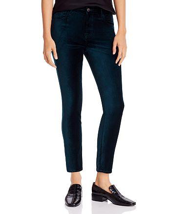 7 For All Mankind - Velvet Skinny Ankle Jeans in Blackened Emerald