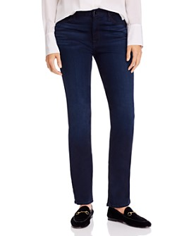 7 For All Mankind - Slim Straight-Leg Jeans in Blue/Black