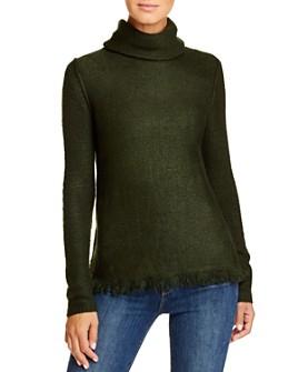 BeachLunchLounge - Sedona Frayed-Hem Turtleneck Sweater