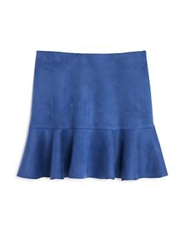 AQUA - Girls' Flounced Faux Suede Skirt, Big Kid - 100% Exclusive