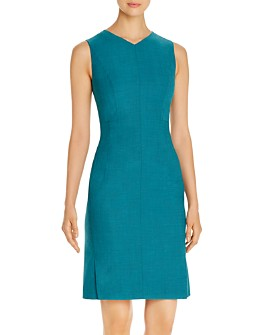 BOSS - Dayami Virgin Wool Sleeveless Sheath Dress
