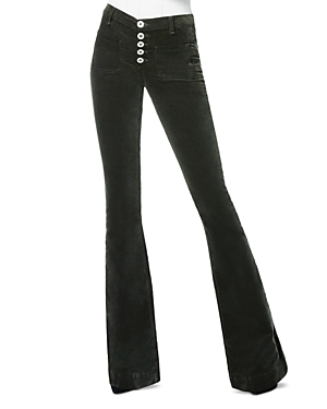 Ramy Brook Cindy Velveteen Jeans in Forest Green-Women