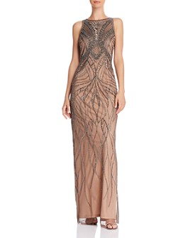 Adrianna Papell - Beaded Mesh Gown
