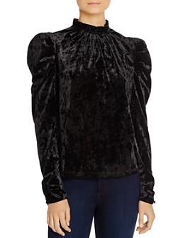 WAYF - Erika Puff-Sleeve Crushed Velvet Top - 100% Exclusive